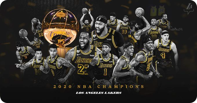 LOS ANGELES LAKERS ARE NBA CHAMPIONS