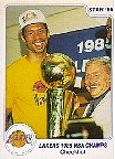 LAKERS 1985 NBA CHAMPS - Checklist